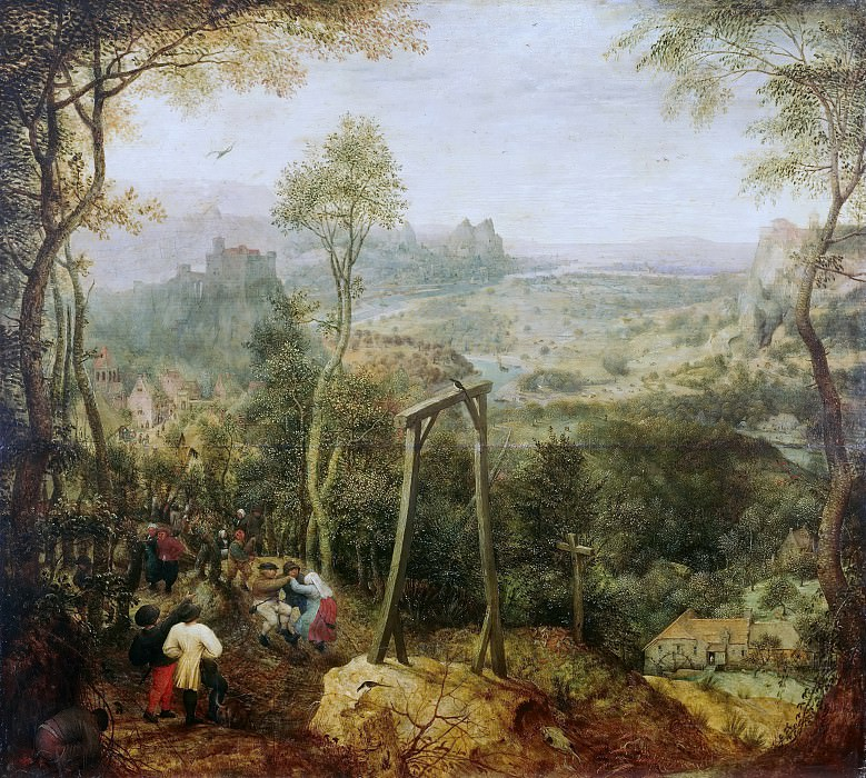 The Magpie on the Gallows. Pieter Brueghel The Elder