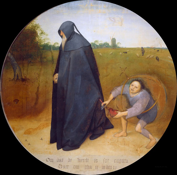 The Misanthropist. Pieter Brueghel The Elder
