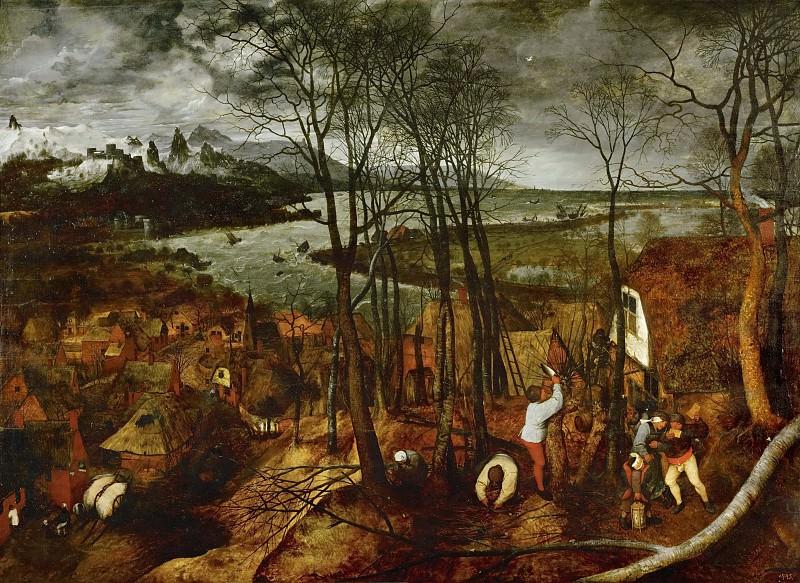 Gloomy Day. Pieter Brueghel The Elder