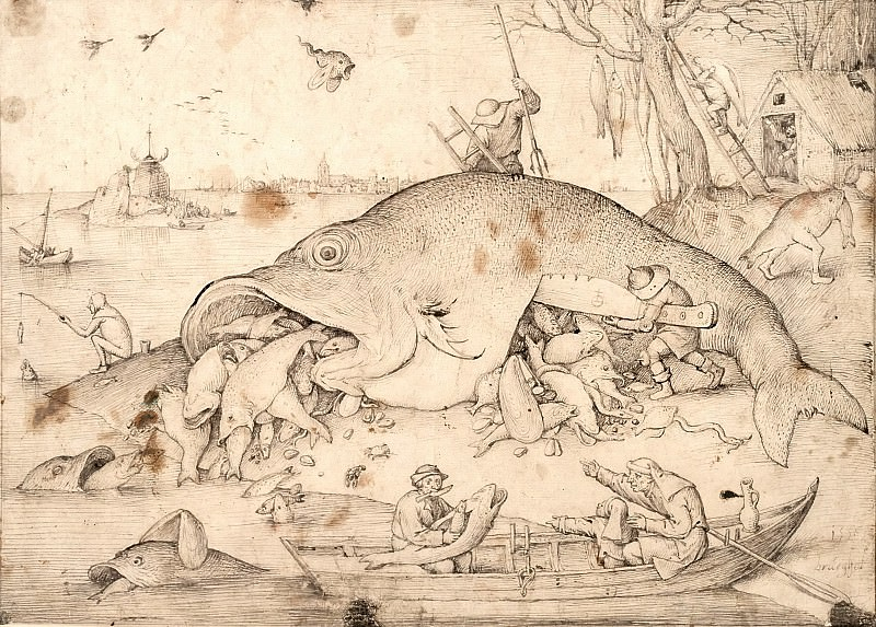 Big Fish Eat Little Fish. Pieter Brueghel The Elder