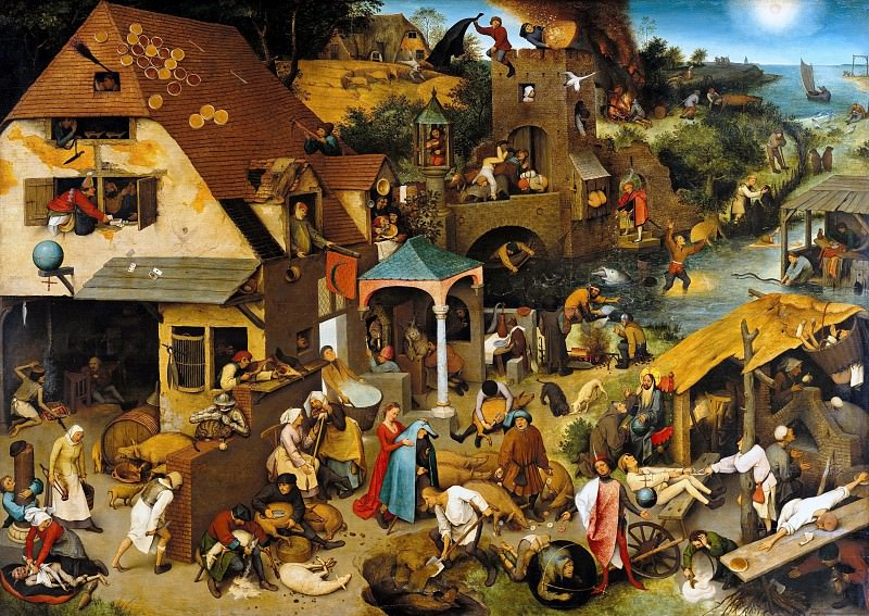 The Dutch Proverbs. Pieter Brueghel The Elder