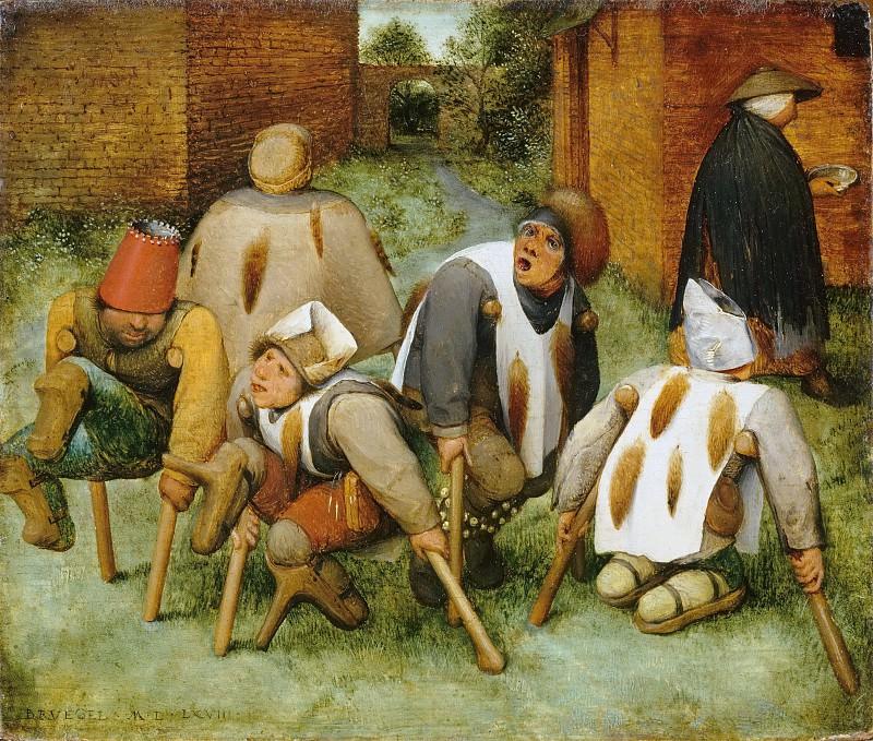 The Beggars (The Cripples). Pieter Brueghel The Elder