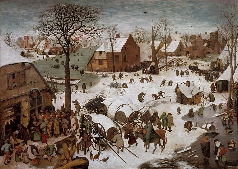 The Census at Bethlehem. Pieter Brueghel The Elder
