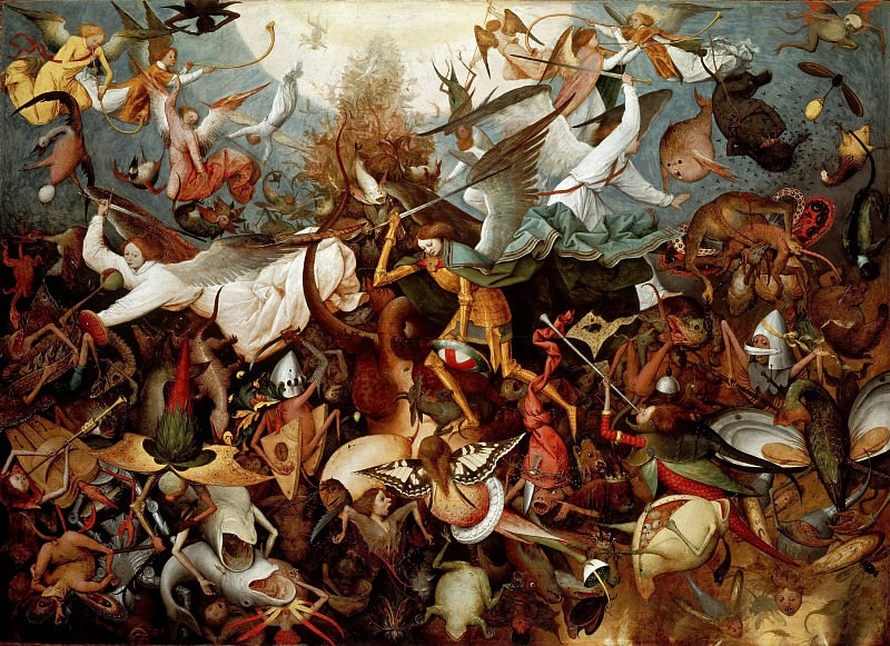The Fall of the Rebel Angels. Pieter Brueghel The Elder