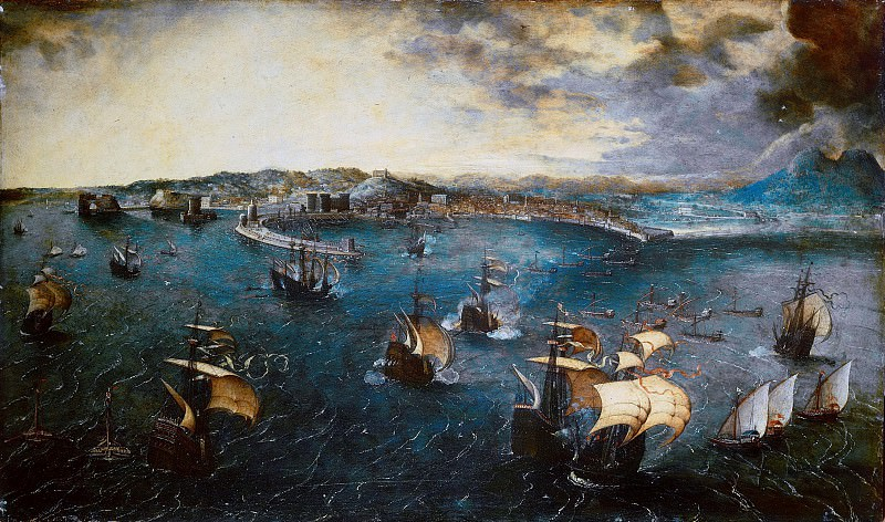 Battle in the Bay of Naples. Pieter Brueghel The Elder