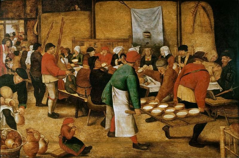 Peasant Wedding (copy). Pieter Brueghel The Elder