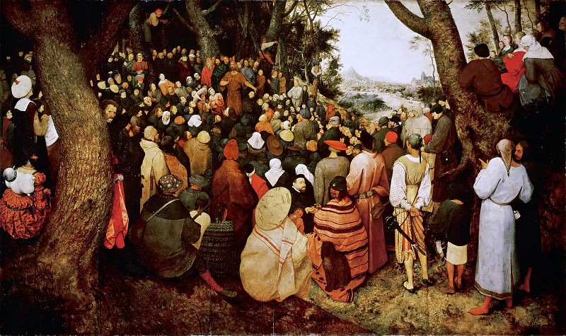 The Sermon of Saint John the Baptist. Pieter Brueghel The Elder