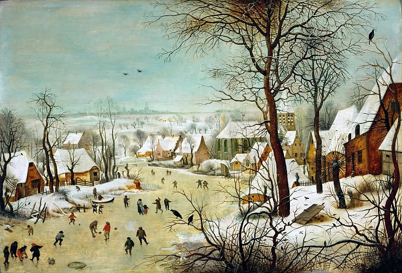 Winter Landscape with a Bird Trap. Pieter Brueghel The Elder