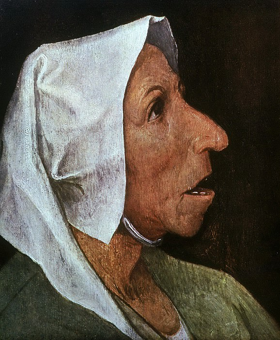 Old Woman. Pieter Brueghel The Elder