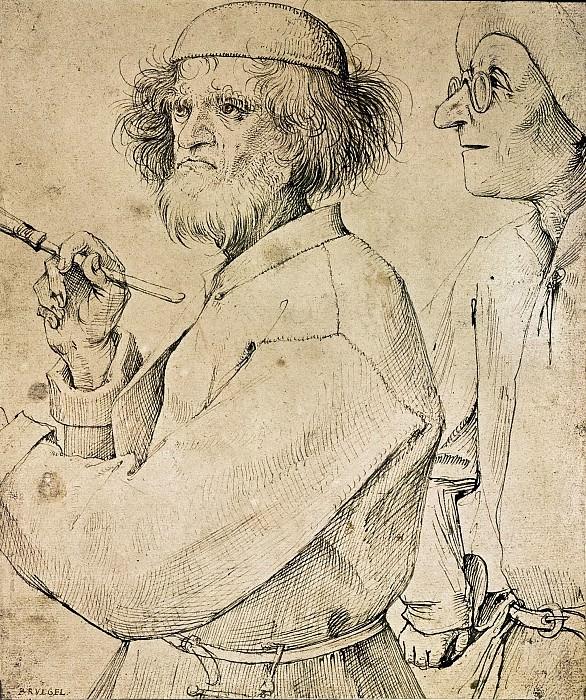 The Painter and the Connoisseur. Pieter Brueghel The Elder