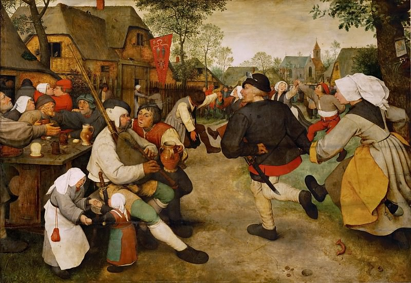 The peasant dance. Pieter Brueghel The Elder