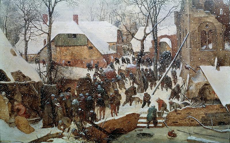 Adoration of the Kings in the Snow. Pieter Brueghel The Elder