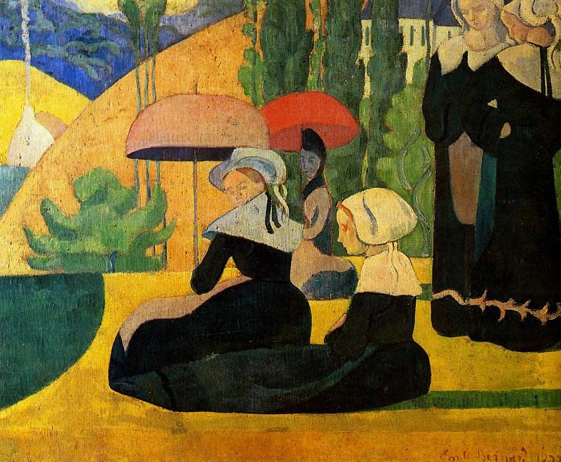 Breton girls. Emile Bernard