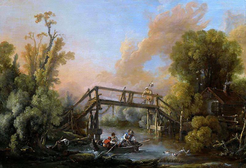 Речной пейзаж. Франсуа Буше