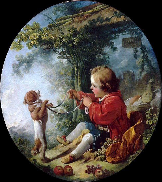 Trained dogs. Francois Boucher
