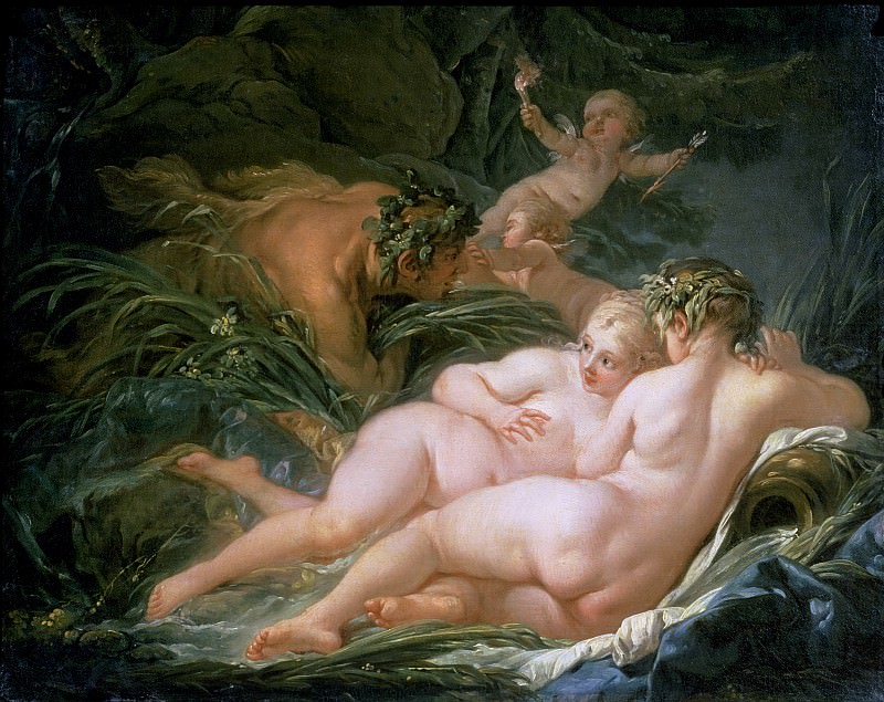 Pan and Syrinx. Francois Boucher