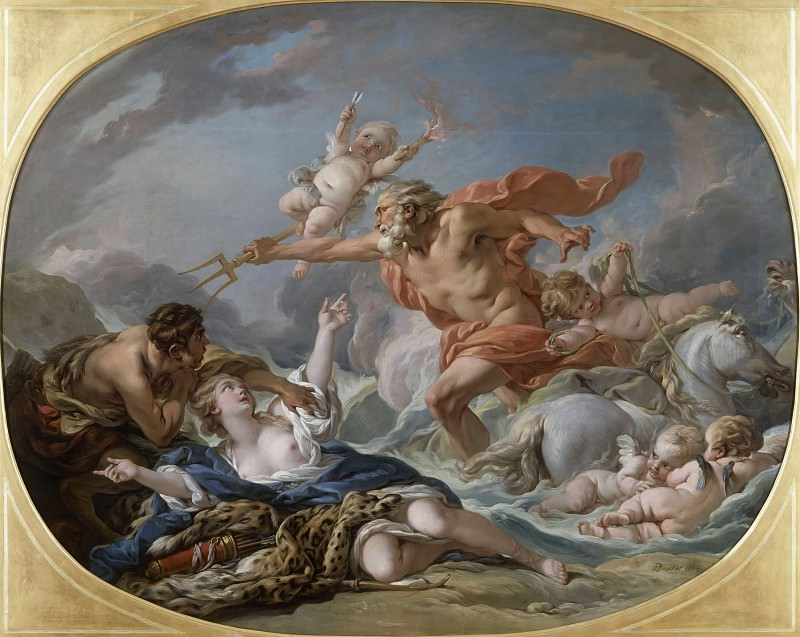 Neptune and Amymone. Francois Boucher