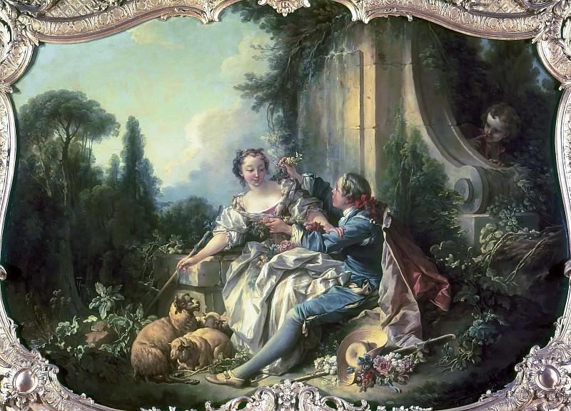The Gallant Shepherd. Francois Boucher