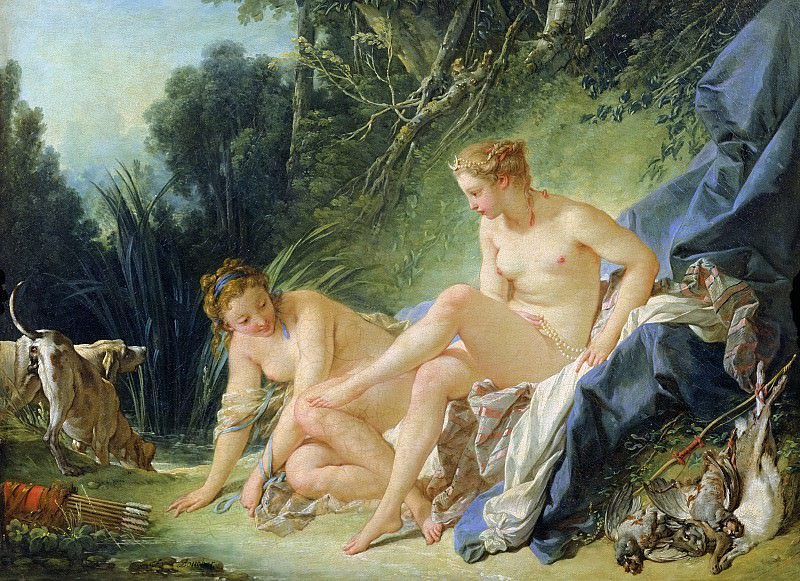 Diana getting out of her bath. Francois Boucher