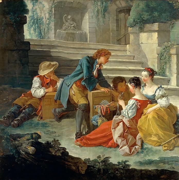 Romantic Scene. Francois Boucher