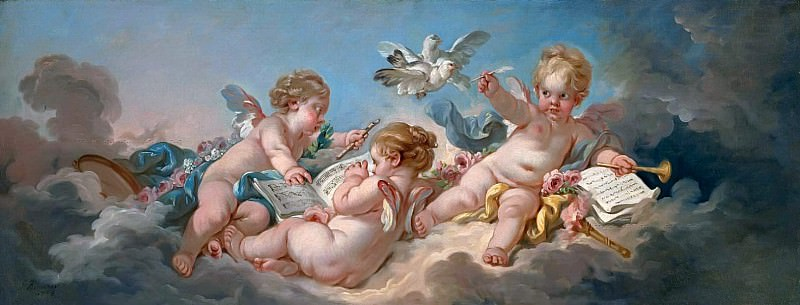 Putti making music. Francois Boucher
