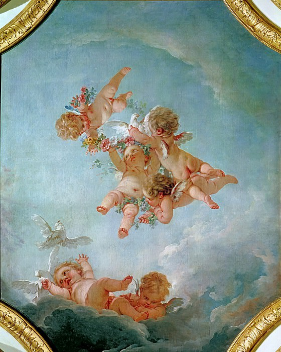 Spring, from a series of the Four Seasons. Francois Boucher
