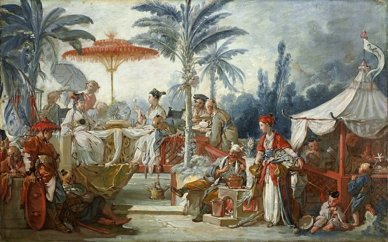 Cartoons for tapestries - Feast of the Emperor of China. Francois Boucher