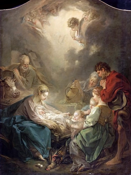 Adoration of the Shepherds. Francois Boucher