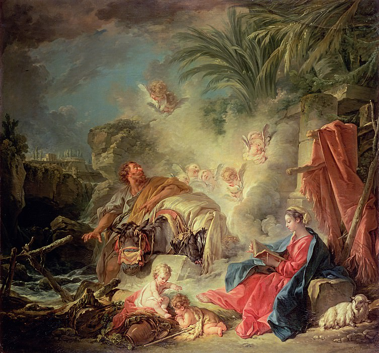 The Rest on the Flight into Egypt. Francois Boucher