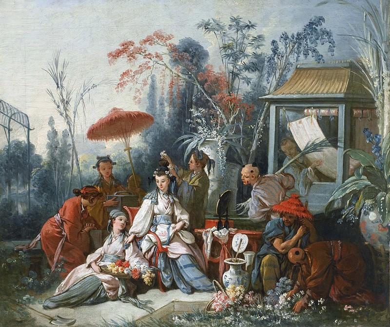 Картоны для гобеленов - Китайский садик. Франсуа Буше