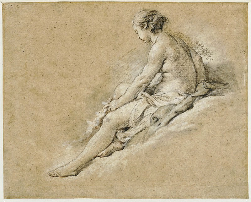 A Seated Nude Girl. Francois Boucher