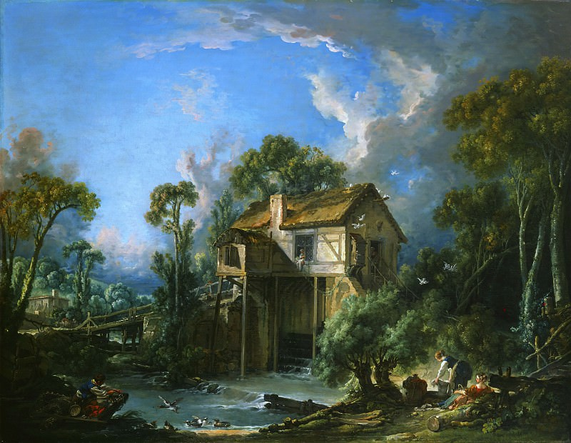 Mill at Charenton. Francois Boucher