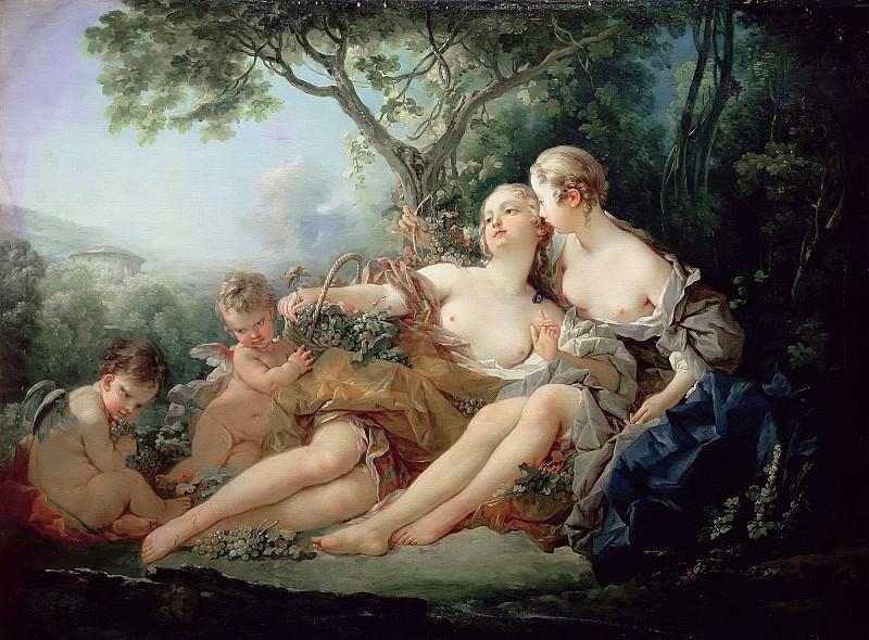 Bacchus and Erigone. Francois Boucher