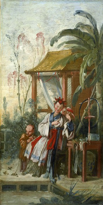 Cartoons for tapestries - Chinese entertainment. Francois Boucher