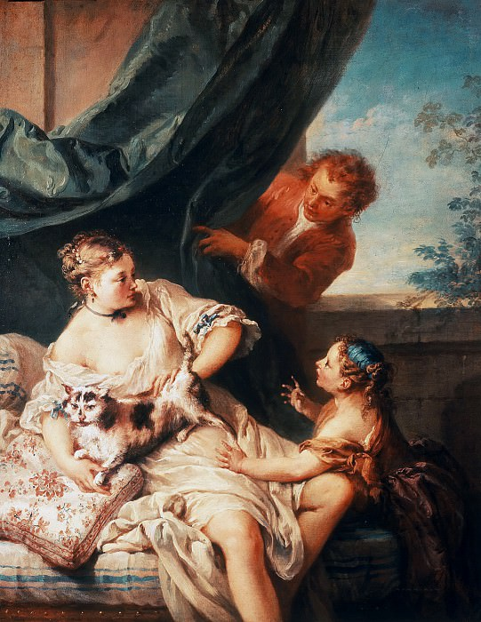 The unexpected Visitor. Francois Boucher