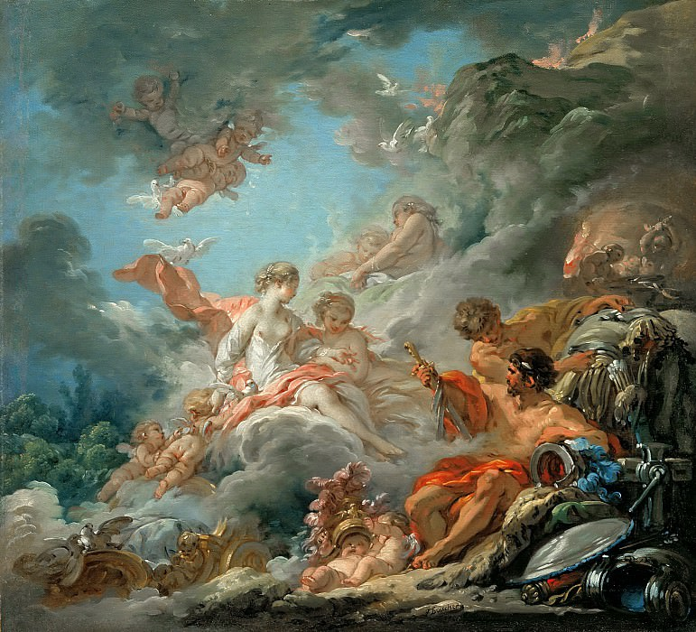 Vulcan Presenting Arms to Venus for Aeneas. Francois Boucher