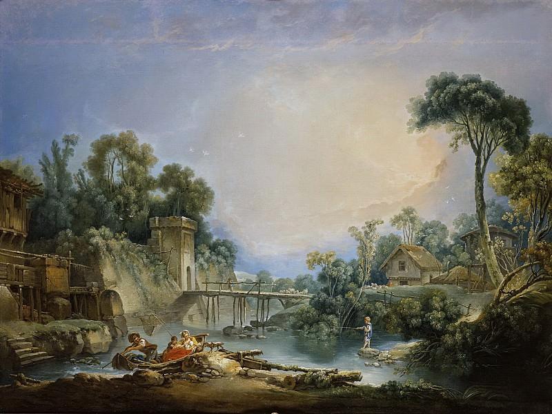 Деревенский мостик. Франсуа Буше