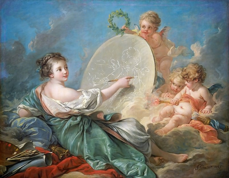 Allegory of Painting. Francois Boucher