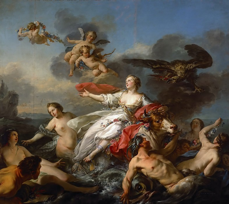 The Abduction of Europa. Francois Boucher