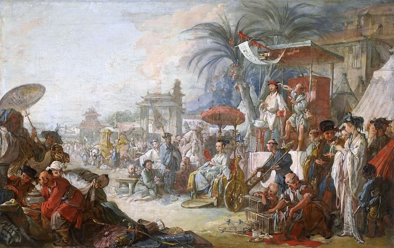 Cartoons for tapestries - China Fair. Francois Boucher