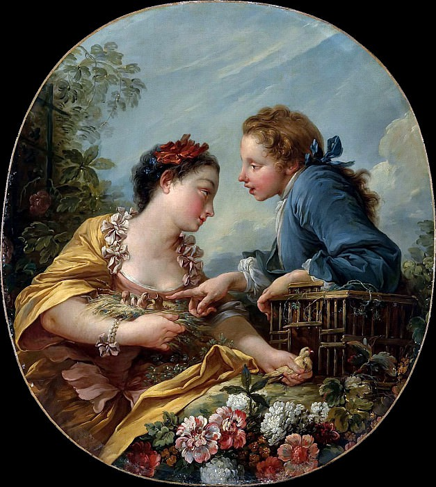 THE BIRD NESTERS. Francois Boucher