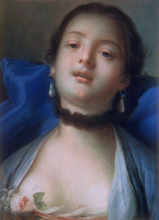 FEMALE HEAD. Francois Boucher