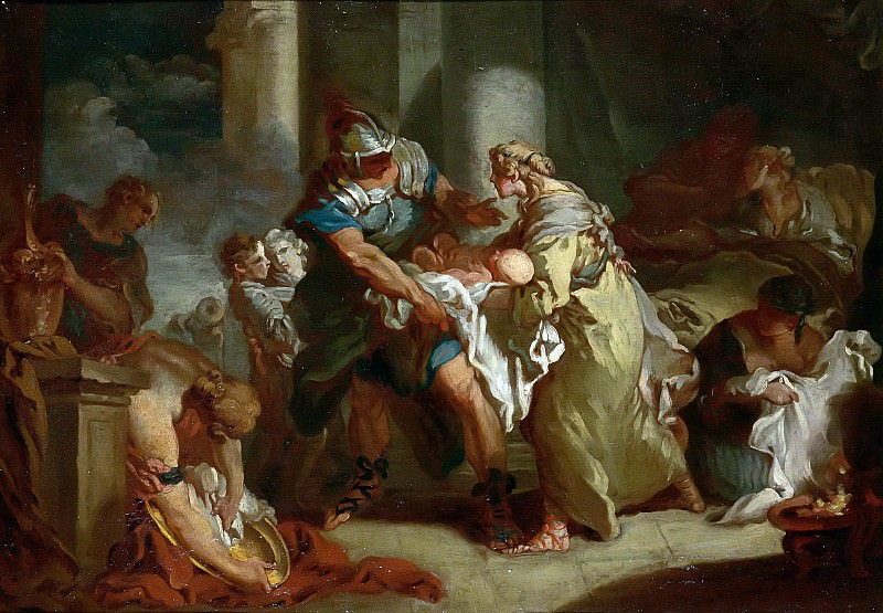 Young Pyrhhus Saved. Francois Boucher