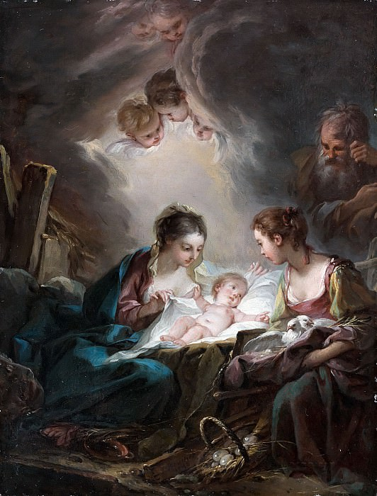 The Holy Family. Francois Boucher