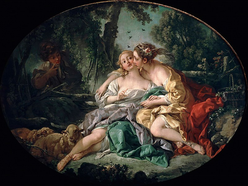 Sylvia and Phillis. Francois Boucher
