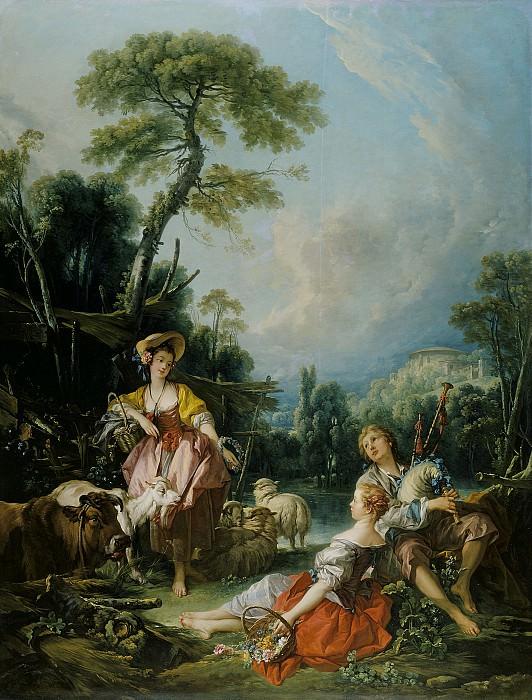 A Summer Pastoral. Francois Boucher