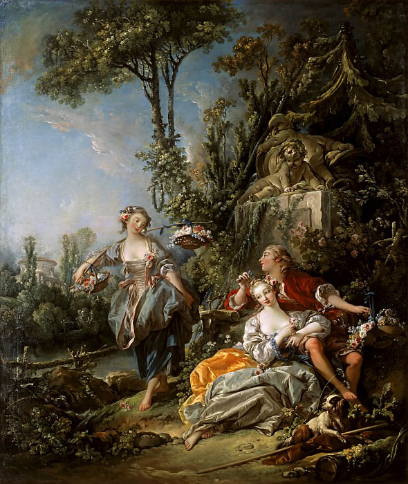 Lovers in a Park. Francois Boucher