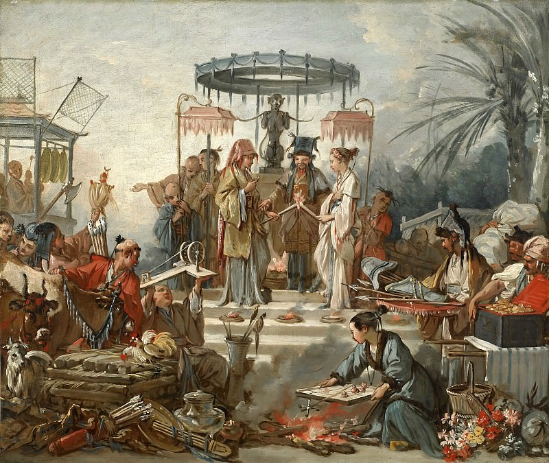 Cartoons for tapestries - Chinese Wedding. Francois Boucher