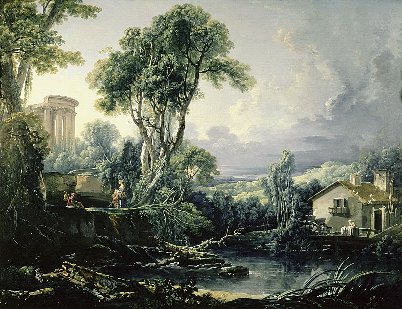 Landscape with Water Mill. Francois Boucher