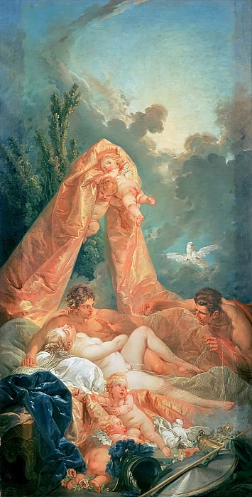 Mars and Venus surprised by Vulcan. Francois Boucher